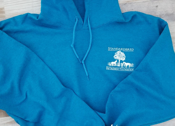 Rich Turquoise hooded Pullover Sweatshirt