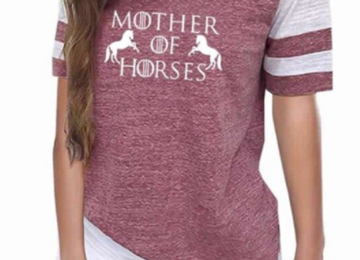 The Mom of All Horses-Baseball Style Top
