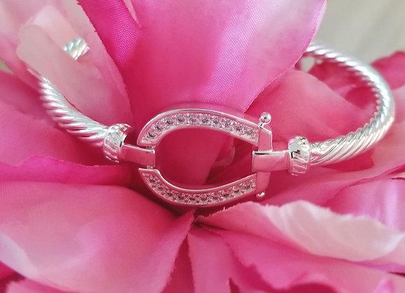 Sterling Silver and Crystal Bracelet