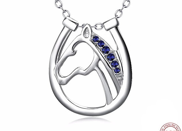 Sterling Silver  & Blue Crystal
