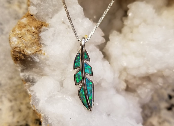 The Fire  Blue/Green Opal Feather
