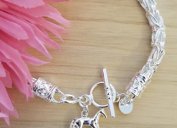 Sterling Silver Equine Bracelet