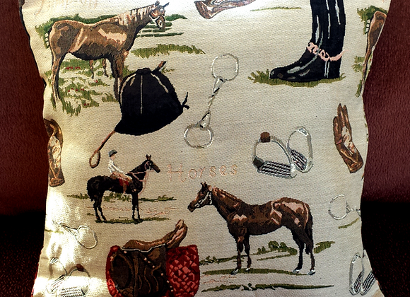 Equestrian Lovers Pillow Cover!