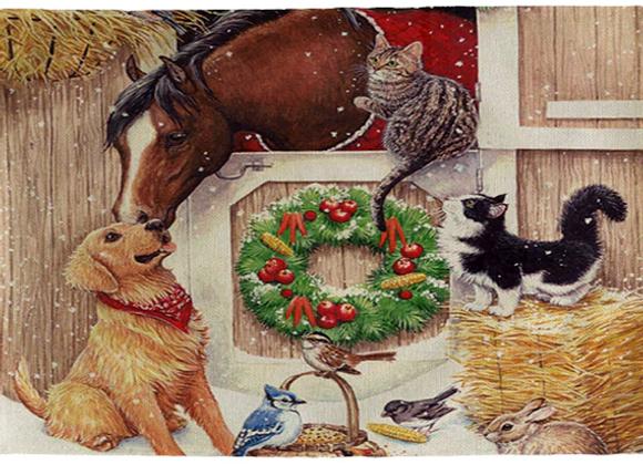 Holiday Barnyard Placemats-Set of 4