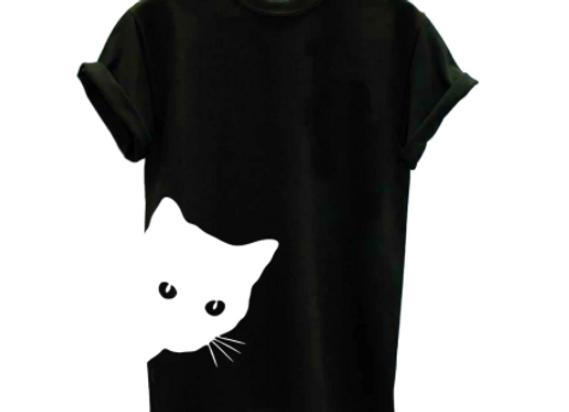 PeekaBoo Cat-Ladies T-shirt