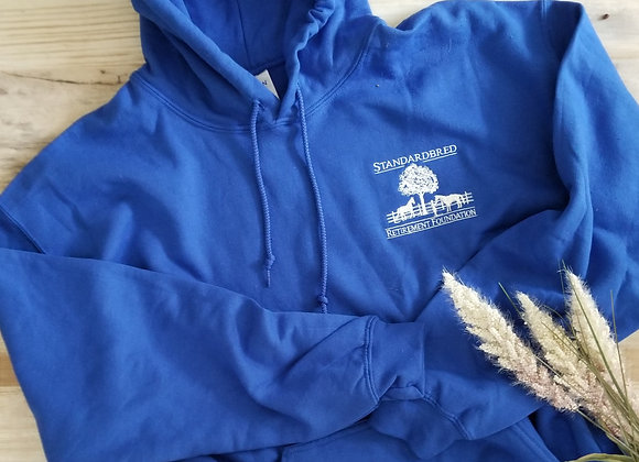 Hooded Pullover Sweatshirt-Royal Blue w White