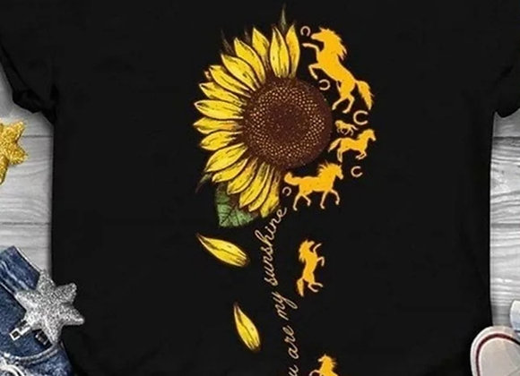 Horses and Sunflowers T-shirt