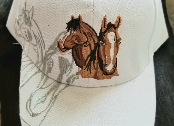 Horse Lovers Hat - White