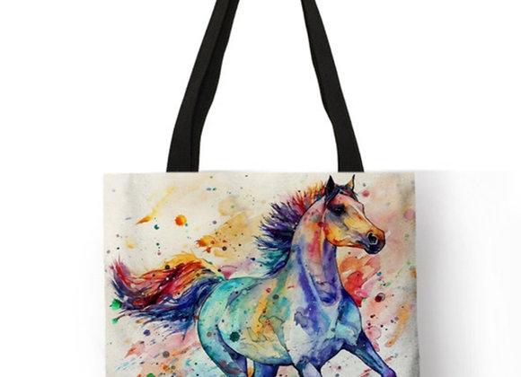 Colorful-Ladies Horse Tote!