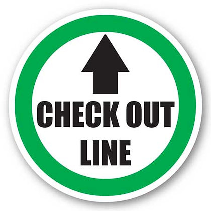 DuraStripe - Circular Safety Signs / Check Out Line