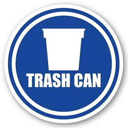 DuraStripe - Circular Safety Signs / Trash Can