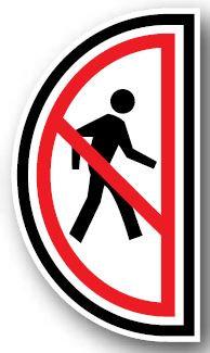 DuraStripe - Side-Stop & Half Signs / No Pedestrian Right