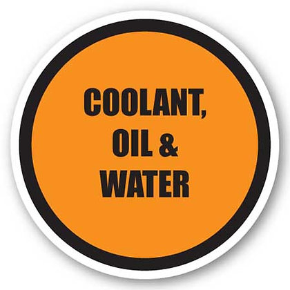 DuraStripe - Circular Safety Signs / Coolant, Oil & Water