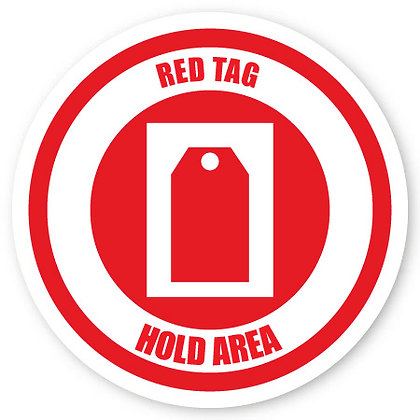 DuraStripe - Circular Safety Signs / Red Tag Holding Area