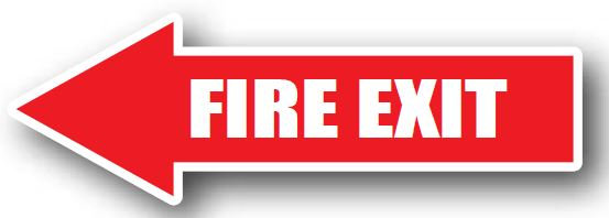 DuraStripe - Directional Signs / Fire Exit Left