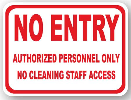 DuraStripe - Rectangular Safety Signs / No Entry Authorized Personnel Only
