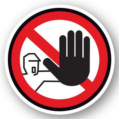 DuraStripe - Circular Safety Signs / No