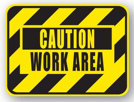DuraStripe - Rectangular Safety Signs / Caution Work Area