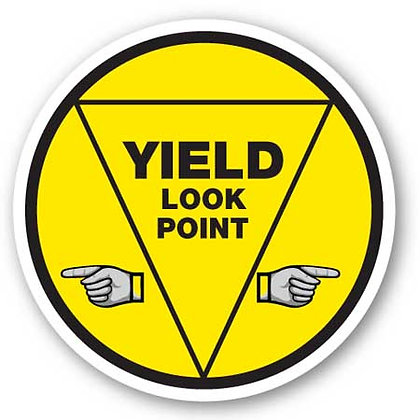 DuraStripe - Circular Safety Signs / Yield Look Point