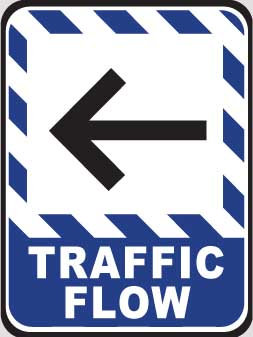 DuraStripe - Rectangular Safety Signs / Traffic Flow