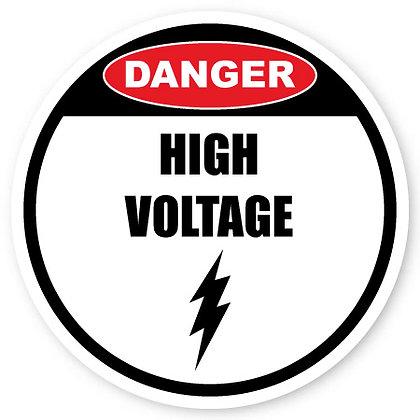 DuraStripe - Circular Safety Signs / Danger High Voltage
