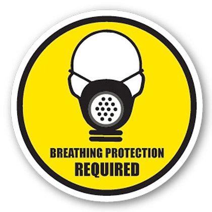DuraStripe - Circular Safety Signs / Breathing Protection Required