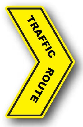 DuraStripe - Directional Signs / Traffic Route