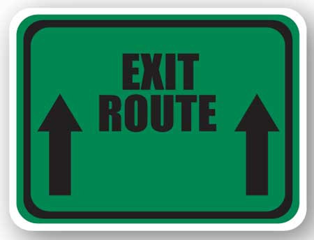 DuraStripe - Rectangular Safety Signs / Exit Route