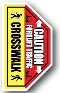 DuraStripe - Side-Stop & Half Signs / Caution Forklift Traffic Crosswalk