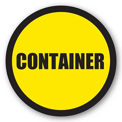 DuraStripe - Circular Safety Signs / Container