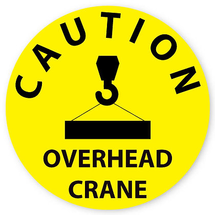 DuraStripe - Circular Safety Signs / Caution Overhead Crane