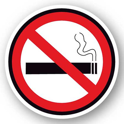 DuraStripe - Circular Safety Signs / No Smoking