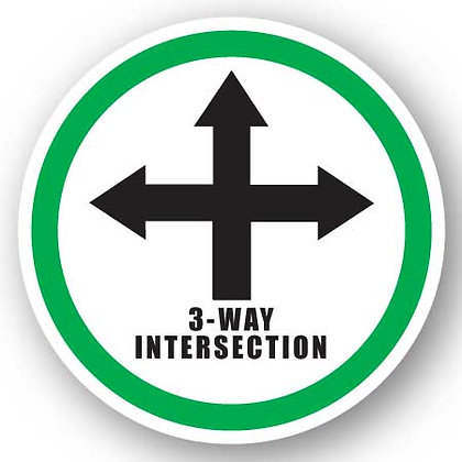 DuraStripe - Circular Safety Signs / 3-Way Intersection