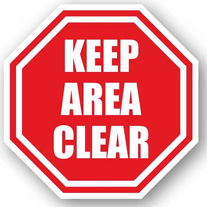DuraStripe - Stop Signs / Keep Area Clear