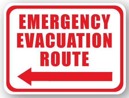 DuraStripe - Rectangular Safety Signs / Emergency Evacuation Route
