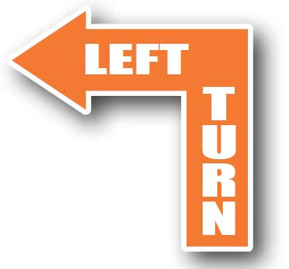 DuraStripe - Directional Signs / Left Turn