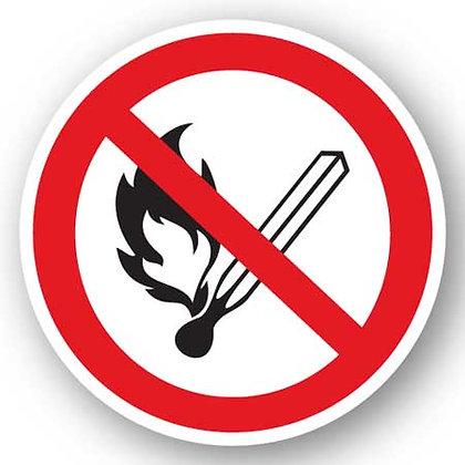 DuraStripe - Circular Safety Signs / No Open Flame