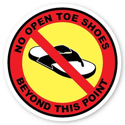 DuraStripe - Circular Safety Signs / No Open Toe Shoes