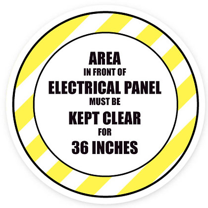 DuraStripe - Circular Safety Signs / Area In Front Of Electrical Panel