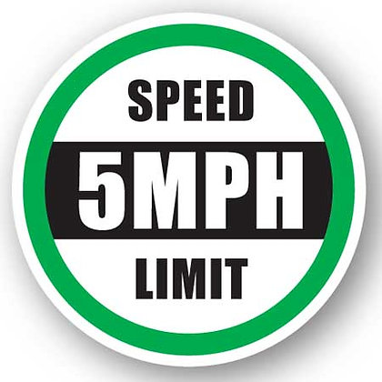 DuraStripe - Circular Safety Signs / Speed Limit 5 MPH