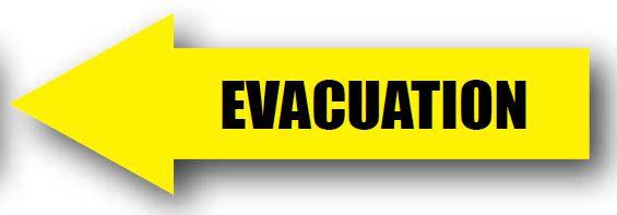 DuraStripe - Directional Signs / Evacuation Left