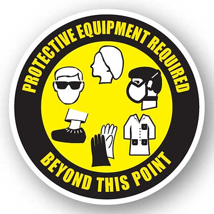 DuraStripe - Circular Safety Signs / Protective Equipment Required