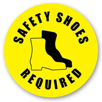 DuraStripe - Circular Safety Signs / Safety Shoes Required