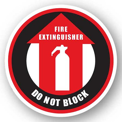 DuraStripe - Circular Safety Signs / Fire Extinguisher Don't Block