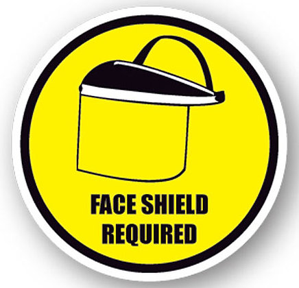 DuraStripe - Circular Safety Signs / Face Shield Required