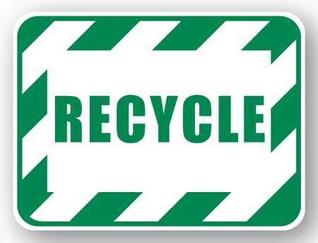 DuraStripe - Rectangular Safety Signs / Recycle