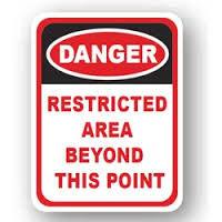 DuraStripe - Rectangular Safety Signs / Danger Restricted Area