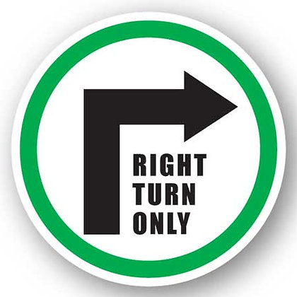 DuraStripe - Circular Safety Signs / Right Turn Only