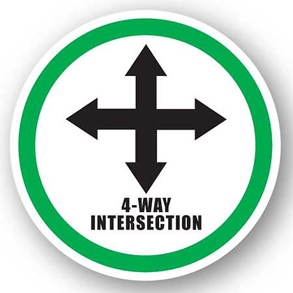 DuraStripe - Circular Safety Signs / 4-Way Intersection
