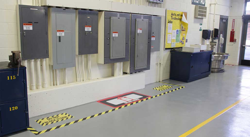 floor-marking-electric-panel-clearance